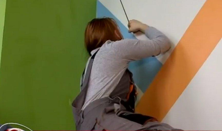 Profesionālo skolu audzēkņi Zaļeniekos sacenšas krāsošanas un apdares meistarībā