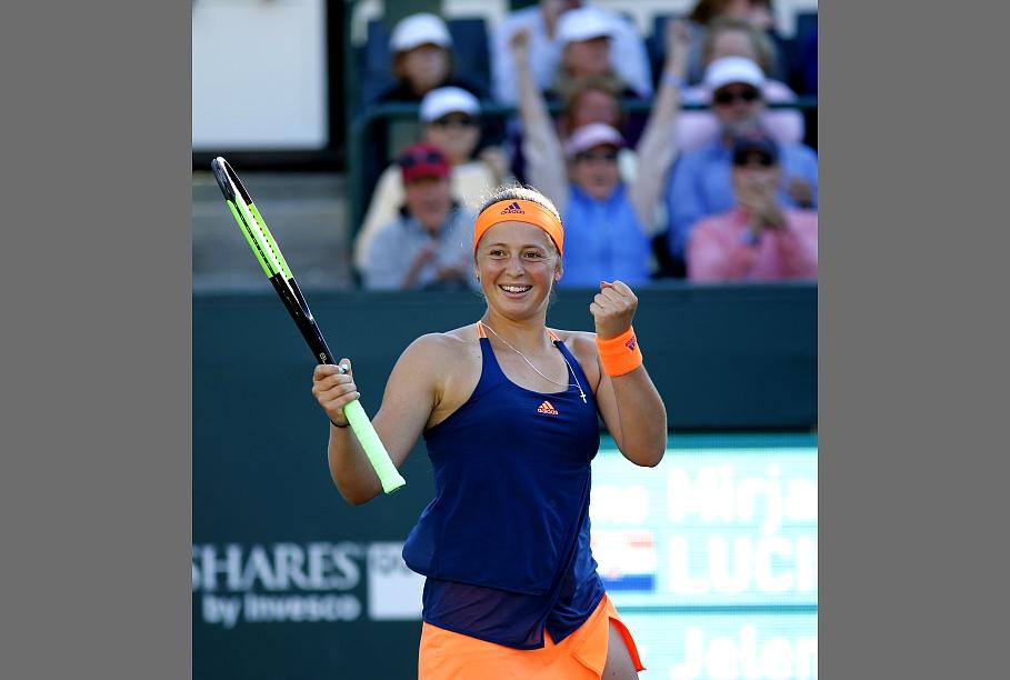 Ostapenko trīs setu cīņā izdodas uzvarēt amerikāņu tenisisti Čiriko