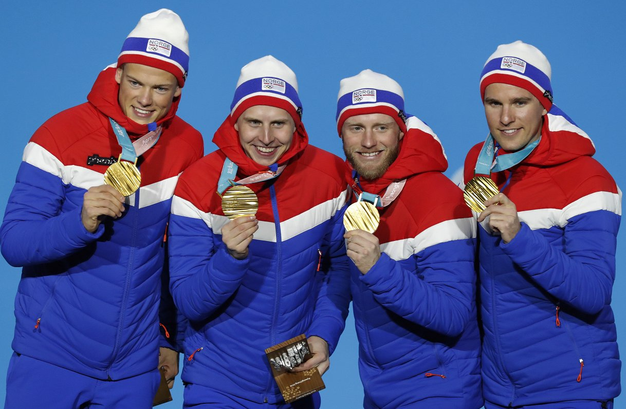 Norvēģi tuvu absolūtajam medaļu rekordam ziemas olimpiskajās spēlēs