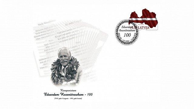 Eduarda Rozenštrauha piemiņai izdod īpašu aploksni