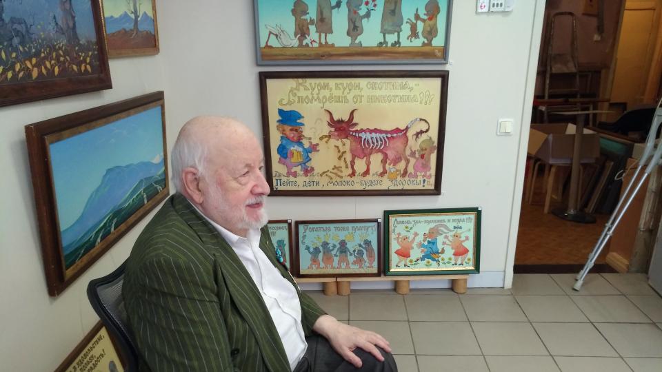 Скончался известный рижский художник, автор «дебилок» Николай Уваров #kultura1kb