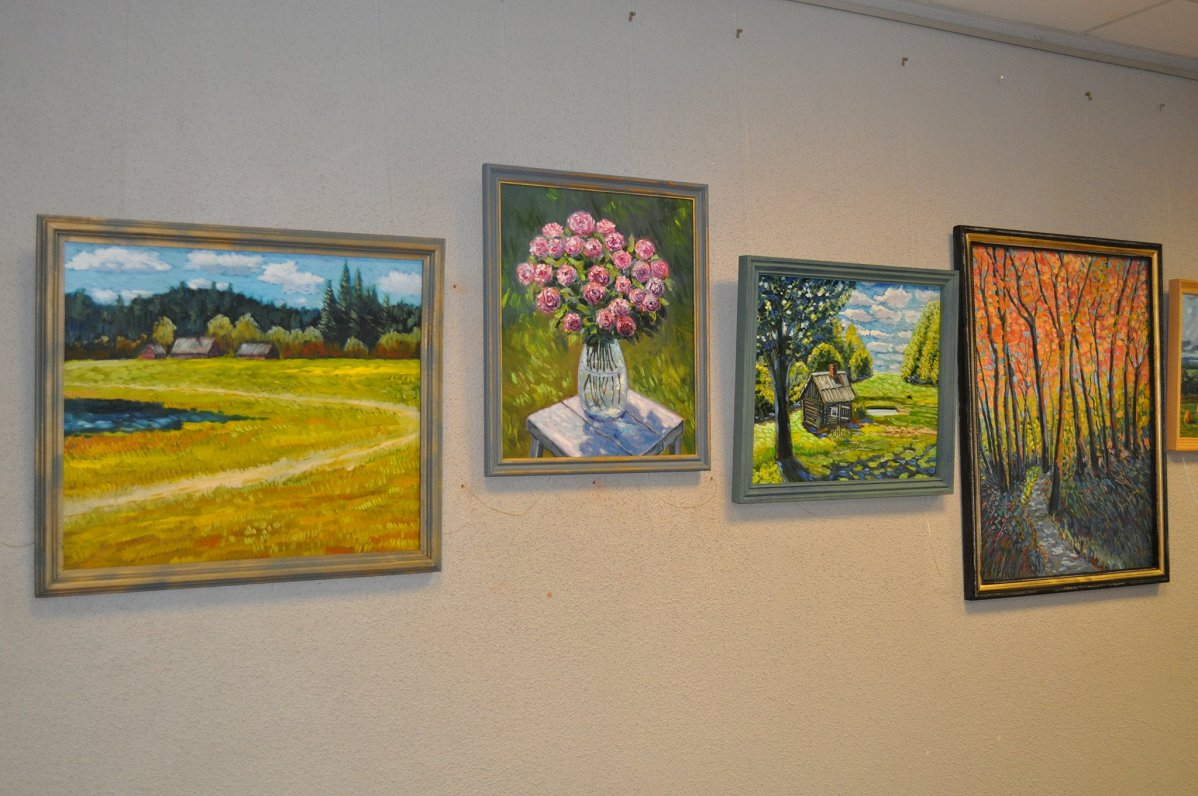 Доктор и художник из Краславы выставил картины в Даугавпилсской городской думе #ГородD