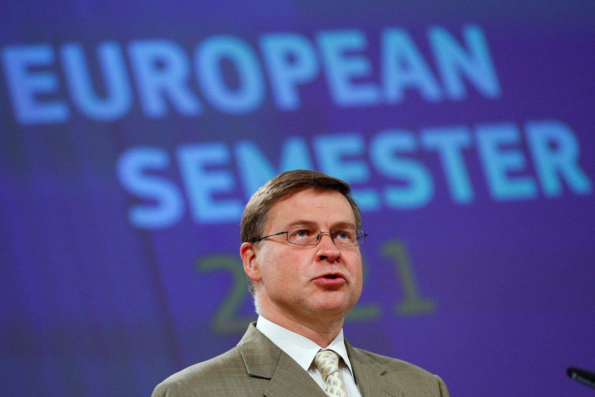 Dombrovskis: Visās ES dalībvalstīs nākamgad atsāksies ekonomikas izaugsme