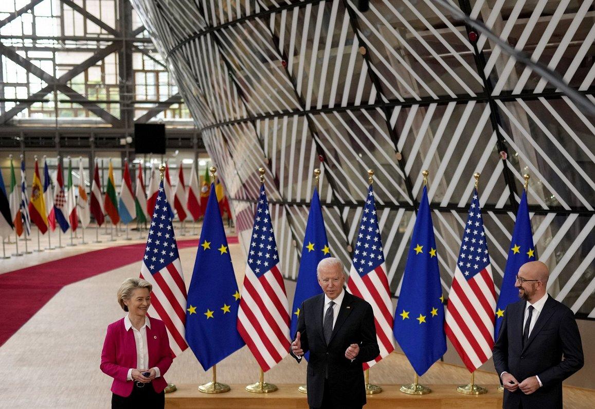 Eiropas Top3: Attiecības ar ASV un Krieviju un aviobūves gigantu pamiers