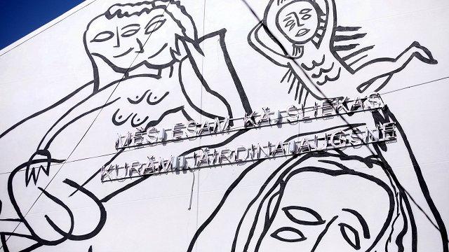 Tiesībsargs: Murālī uz skolas sienas nav saskatāmi draudi bērnu garīgajai veselībai