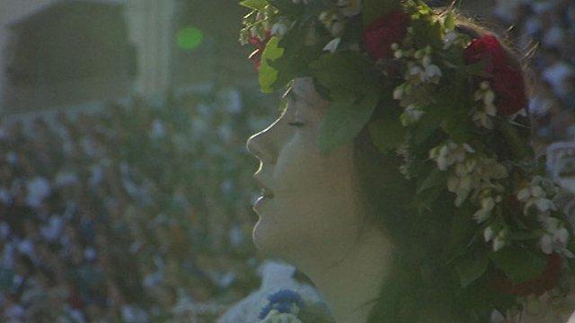 Himniskā latviešu mesa – Mārtiņa Brauna dziesmas «Saule, Pērkons, Daugava» ceļš