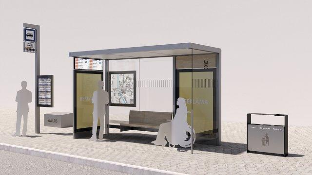 Rīdziniekus aicina paust viedokli par jauno sabiedriskā transporta pieturvietu dizainu